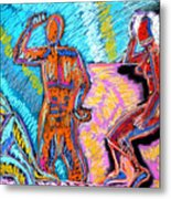 Electricity - 3 Figures Metal Print