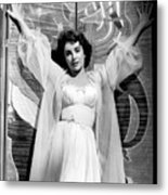 Elizabeth Taylor Diamond Are Forever With Her Collectin Metal Print