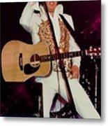 Elvis In Concert Metal Print