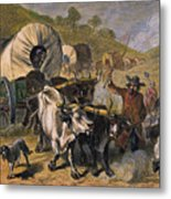Emigrants To West, 19th C Metal Print
