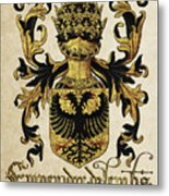 Emperor Of Germany Coat Of Arms - Livro Do Armeiro-mor Metal Print by Serge Averbukh