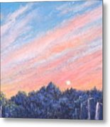 enchanced Catching the Sunset  Metal Print