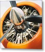 Engine And Propellers Of Aircraft Close Up Metal Print