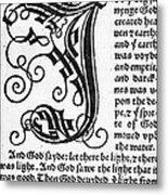 English Bible, 1535 Metal Print