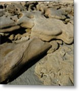 Eroded Beach Rocks. Metal Print
