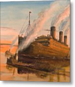 Evening Departure Metal Print