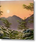 Evening Moonrise Metal Print