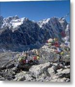 Everest Prayer Flags Metal Print