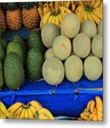 Exotic Fruit Market Metal Print