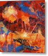 Explosions Of Light Metal Print