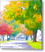 Fall In Holly Hill Metal Print