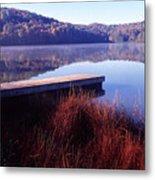 Fall Morning On The Lake Metal Print