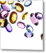 Falling Gems Metal Print