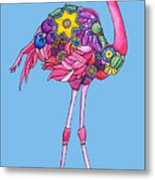 Fancy Felicity Flamingo Metal Print