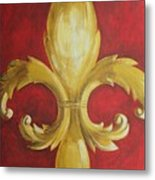Fancy Fluer De Lis Metal Print by Dana Redfern