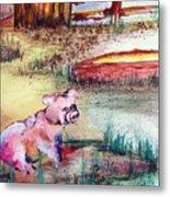 Farm Piggy Metal Print