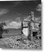 Farmhouse Cottage Ruin Flinders Ranges South Australia Metal Print
