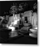 Fdr Memorial Water Wall Metal Print