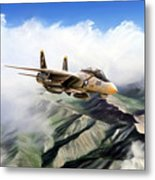 Fear The Bones F-14 Metal Print