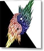 Feathered Ying Yang  Metal Print