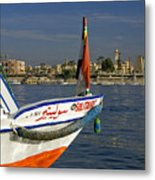 Felucca On The Nile Metal Print