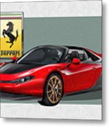 Ferrari Sergio With 3d Badge  Metal Print by Serge Averbukh