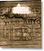 Film Homage Gregg Toland John Ford Henry Fonda The Grapes Of Wrath 2 1940 Ft. Steele Wy 1971-2008 Metal Print