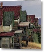 Film Homage Mae Marsh Miner's Coal Company Homes Ghost Town Madrid New Mexico Color 1968-2008 Metal Print