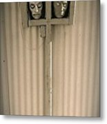 Film Noir Sidney Greenstreet Mask Of Demetrious 1944 Sid Bruce's Sculptures Black Canyon Az 1991 Metal Print