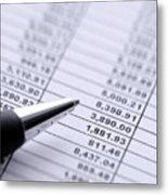 Finances Metal Print