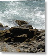 Fine Art Water And Rocks Metal Print