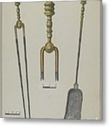 Fire Tongs And Shovel Metal Print