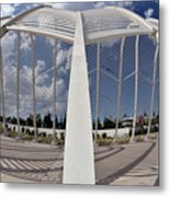 Fish Eye View Of Archway In Olympic Stadium Metal Print