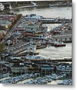 Fisherman's Wharf And Pier 39 Aerial Photo Metal Print