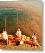 Fishermen In Beirut  Metal Print
