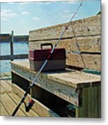 Fishin' Pole Metal Print