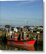 Fishing Boats At Whitstable Harbour 02 Metal Print