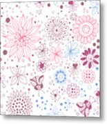 Floral Doodles Metal Print