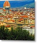 Florence, Italy Panoramic Metal Print