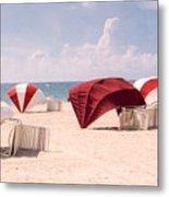 Florida Umbrellas Metal Print