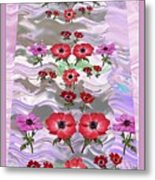 Flower Mania Anemone Fantasy Wave Design Created Of Garden Colors Unique Elegant Decorations Metal Print