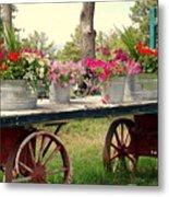 Flower Wagon Metal Print