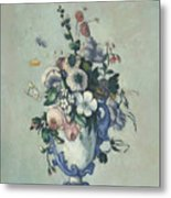 Flowers In A Rococo Vase Metal Print