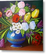 Flowers In A Vase Metal Print