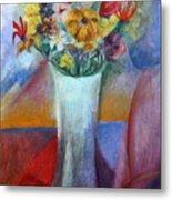 Flowers In Vase Vii Metal Print