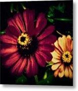 Flowers Lighting Up The Darkness Metal Print