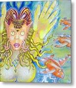 Fly N Fish Metal Print