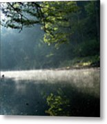 Fog And Reflection On Stream Metal Print