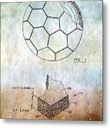 Football Patent Metal Print