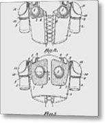 Football Shoulder Pads Patent 1913 Metal Print